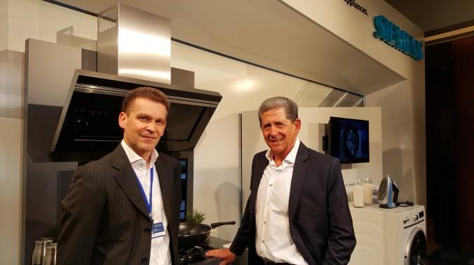 ALLAN WITH BSH'S. ENRICHO HOFFMAN. CEO BSH SA.
