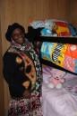 Winnie at her grandkids new beds (Medium)